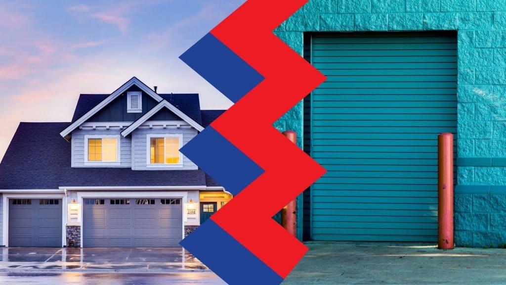 Residential-vs-Commercial-garage-door-repair